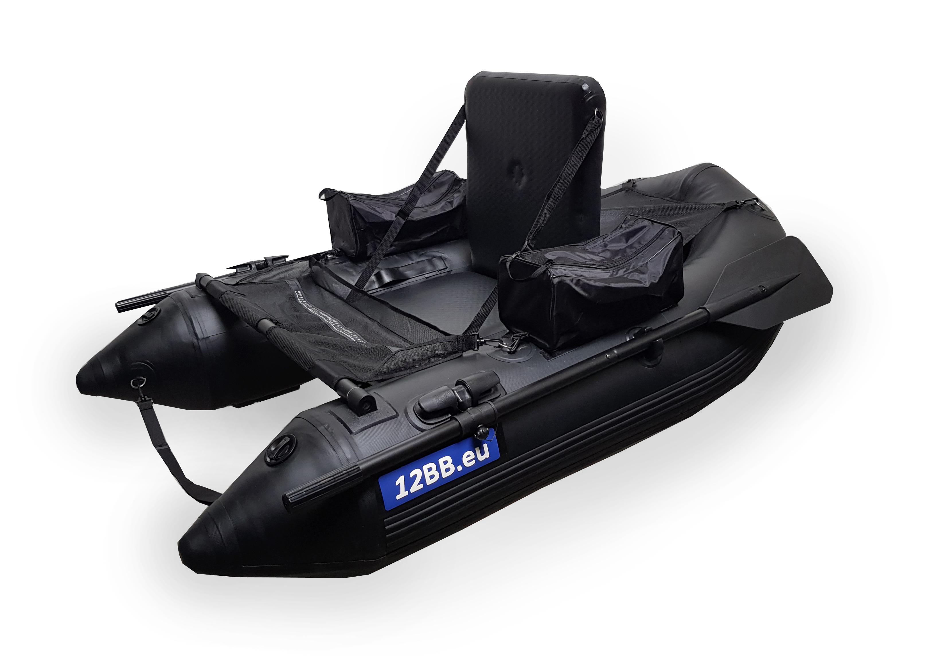 12BB - Belly Boat, type STEALTH mit aufblasbahrem Sitz und Boden und Paddel
