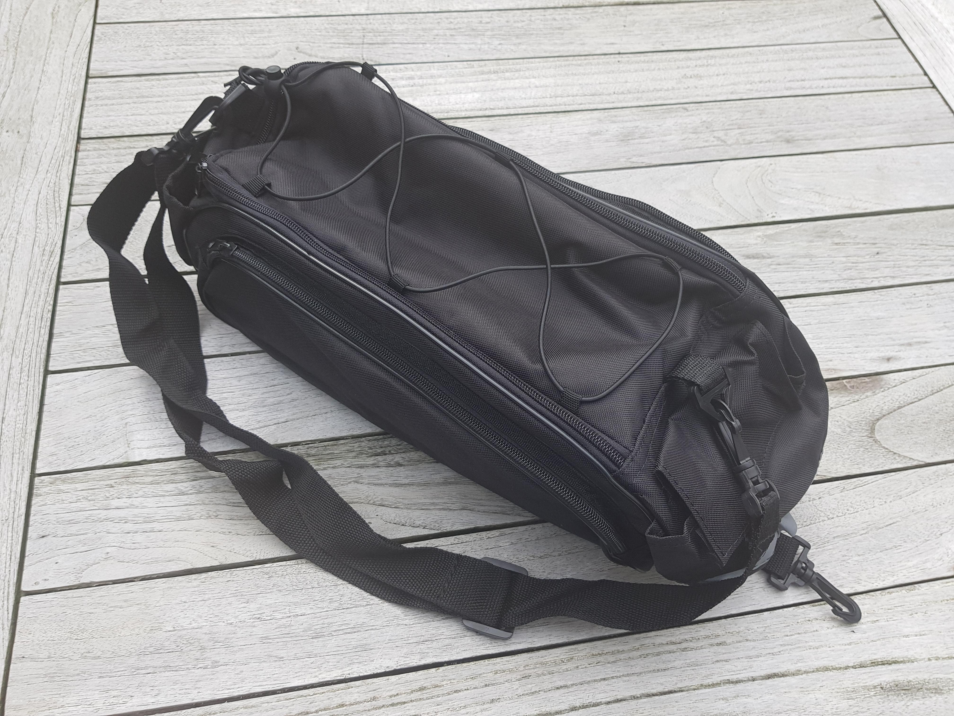 12BB - Luxus XL Tubetasche mit Seitentaschen, Fronttasche - Clips und Klettverschluss