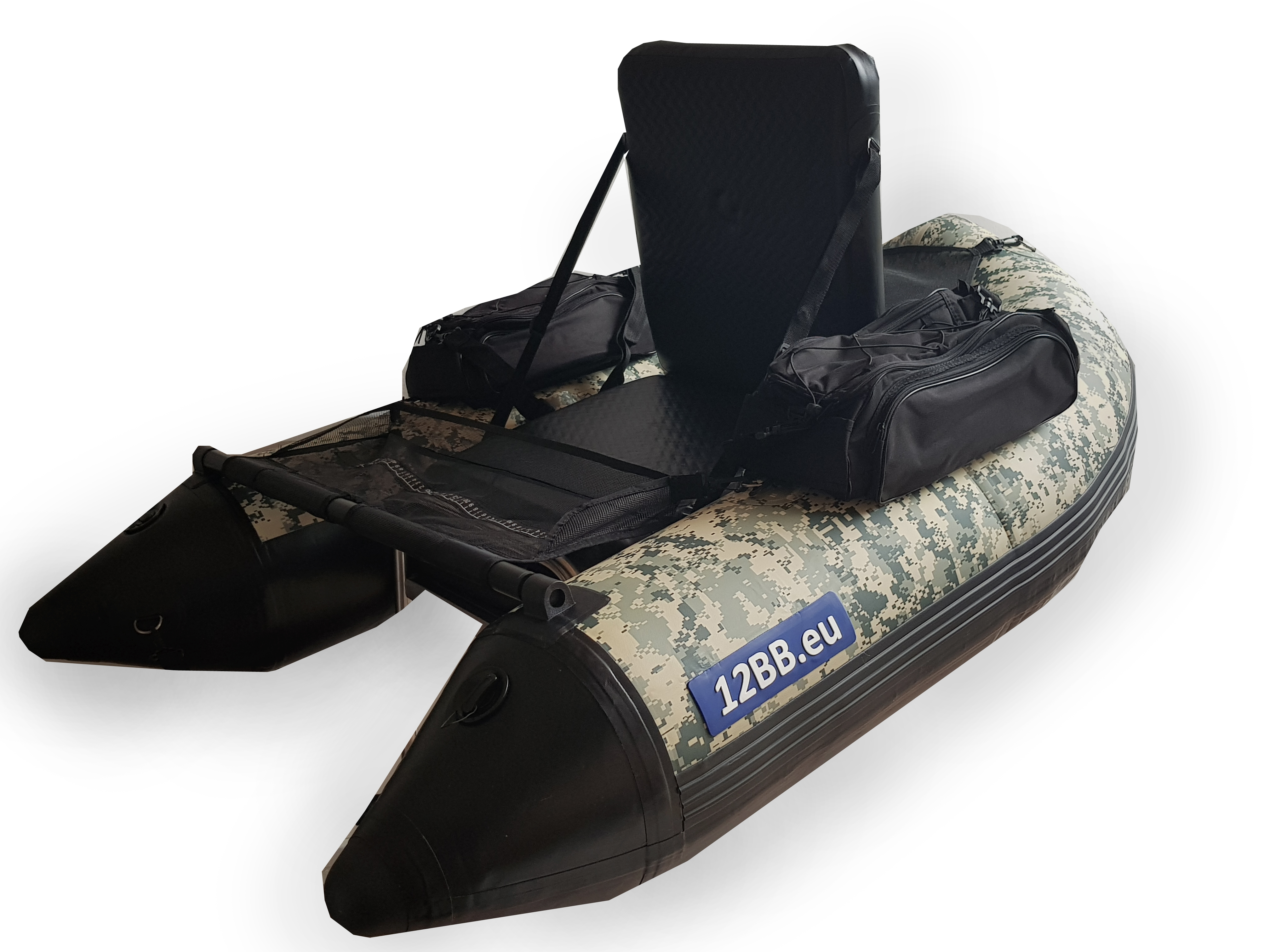 12BB - Belly Boat, Typ DIGITAL CAMO mit aufblasbahrem Sitz und Boden